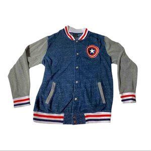 Marvel Captain America Button Down Sweatshirt